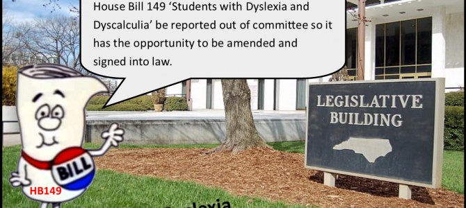 """HB 149 'Students with Dyslexia and Dyscalculia"""""""