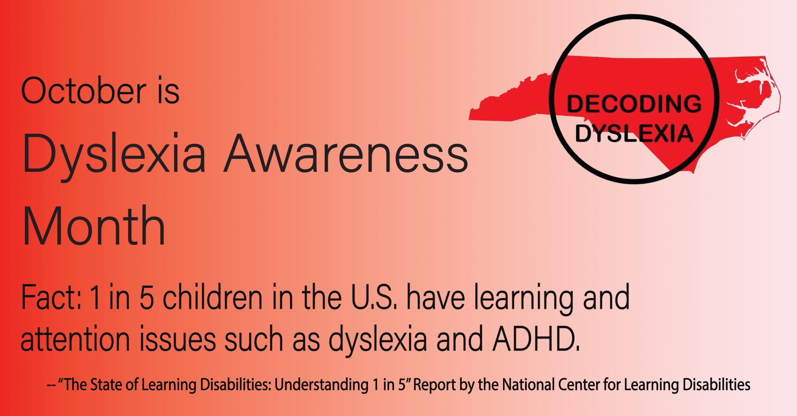 Facebook Dyslexia Awareness Graphic